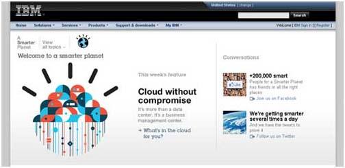 روانشناسی رنگ ها در سایت IBM